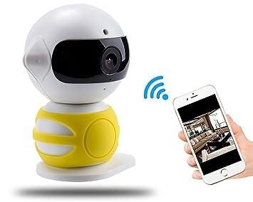 720P 360 Cámara IP Inalámbrica, A-Best Seguridad Cámara de Vigilancia Inicio WiFi, Pan / Tilt con ...