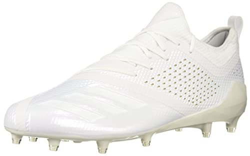 new style 32cc8 f9077 adidas Men s Adizero 5-Star 7.0 Football Shoe White Gold Metallic, ...