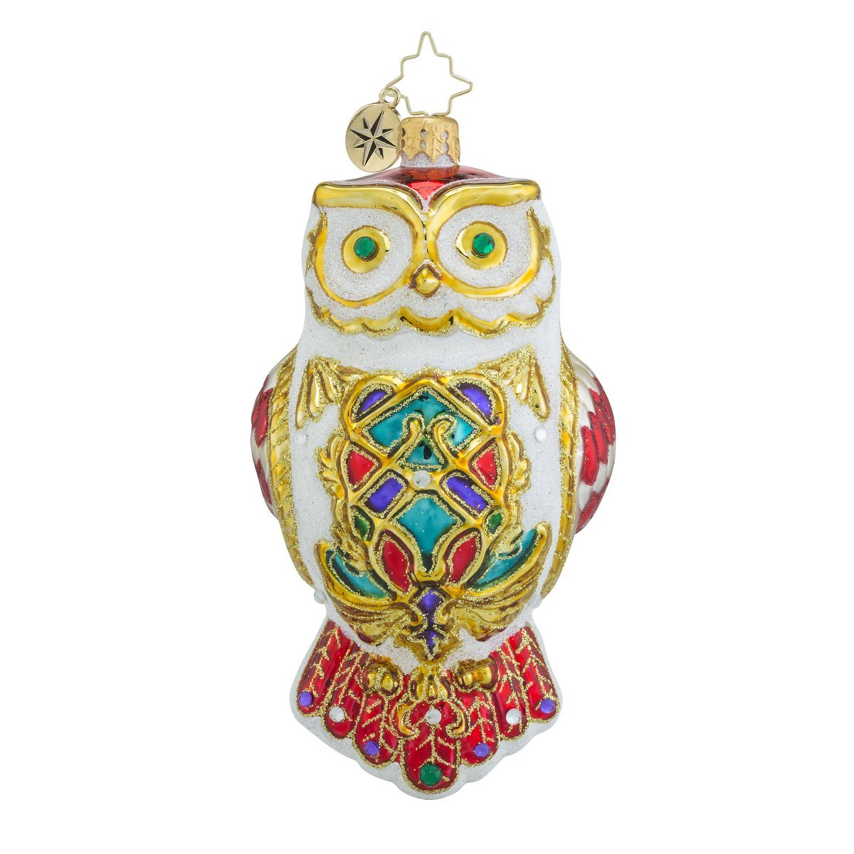 Christopher Radko Owl Fly Away Glass Christmas Ornament - 5.5''h.
