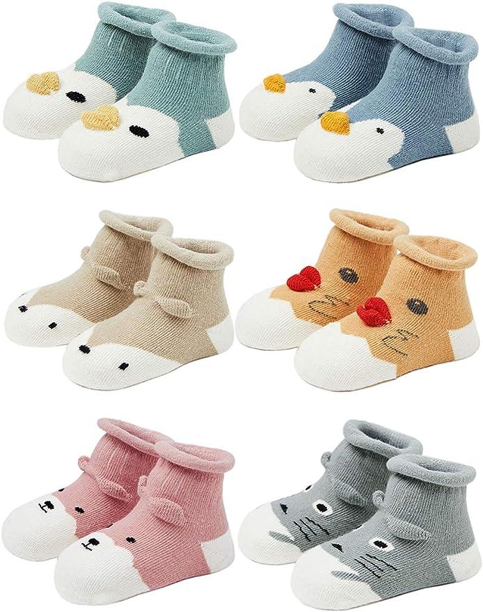 Kids Infants Girls Fluffy Bed Slipper Socks 2 Pairs Non Skid Anti Slip Grips Size 6-8.5 up to 4-6