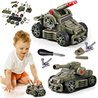 10-in-1 DIY Tank Toys Take Apart Military Vehicles for 3 4 5 6 7 8 Year Old Boys Girls, STEM Learning Toys Building Play…
