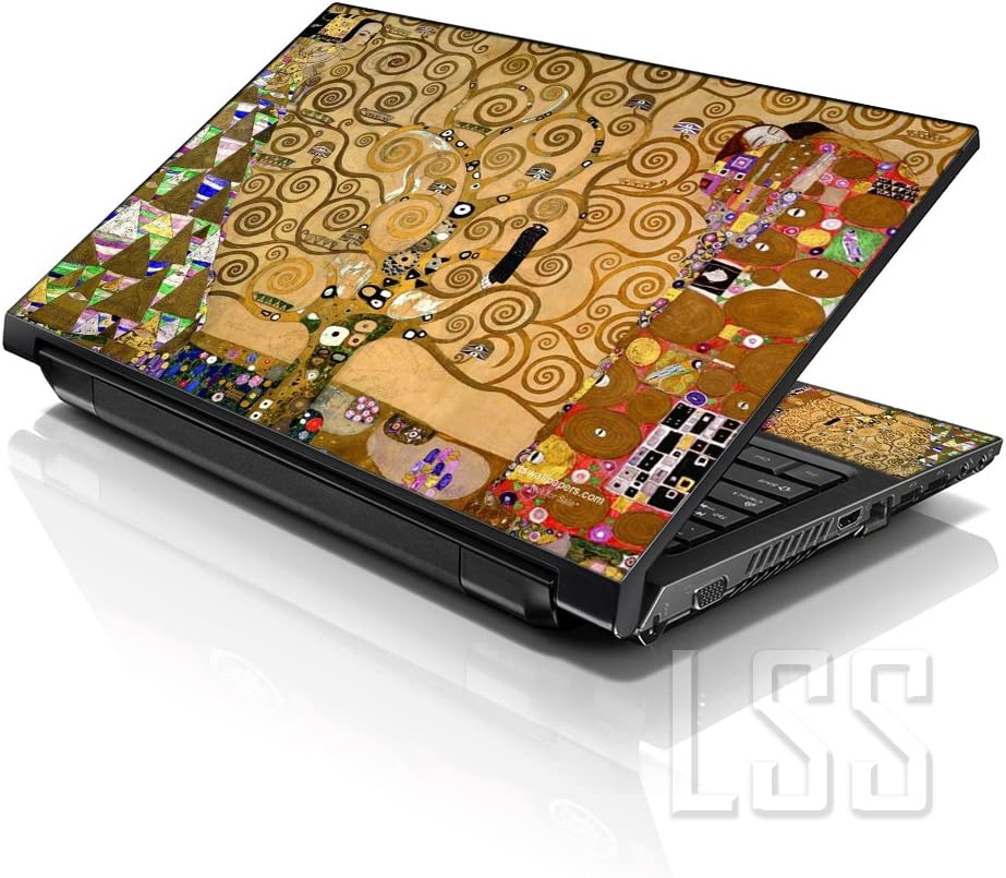 "LSS 15 15.6 inch Laptop Notebook Skin Sticker Cover Art Decal Fits 13.3"" 14"" 15.6"" 16"" HP Dell Lenovo Apple Asus Acer Compaq (Free 2 Wrist Pad Included) Klimt Tree of Life"