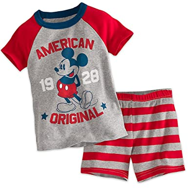 d55607a836b6 Amazon.com: Disney Mickey Mouse Americana PJ PALS Short Set for Boys ...