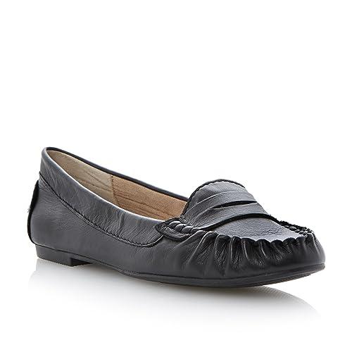 Steve Madden - Mocasines de cuero para mujer negro negro: Amazon.es: Zapatos y complementos