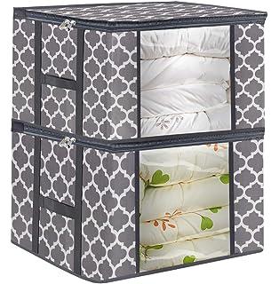 Amazon.com: Bolsa de almacenamiento de ropa para edredón ...