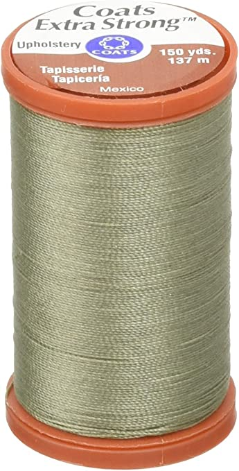 150-Yard Coats Green Linen Thread /& Zippers Extra Strong Upholstery Thread