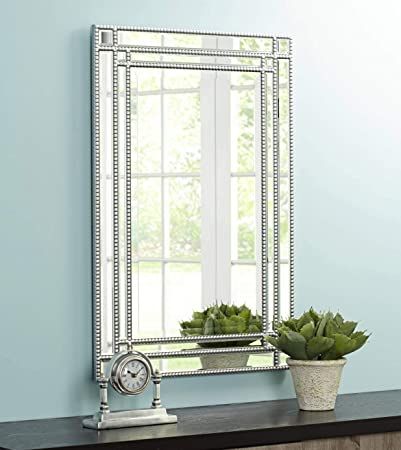 Noble Park Ravalli Silver Beaded 23 x 34 1 4 Wall Mirror