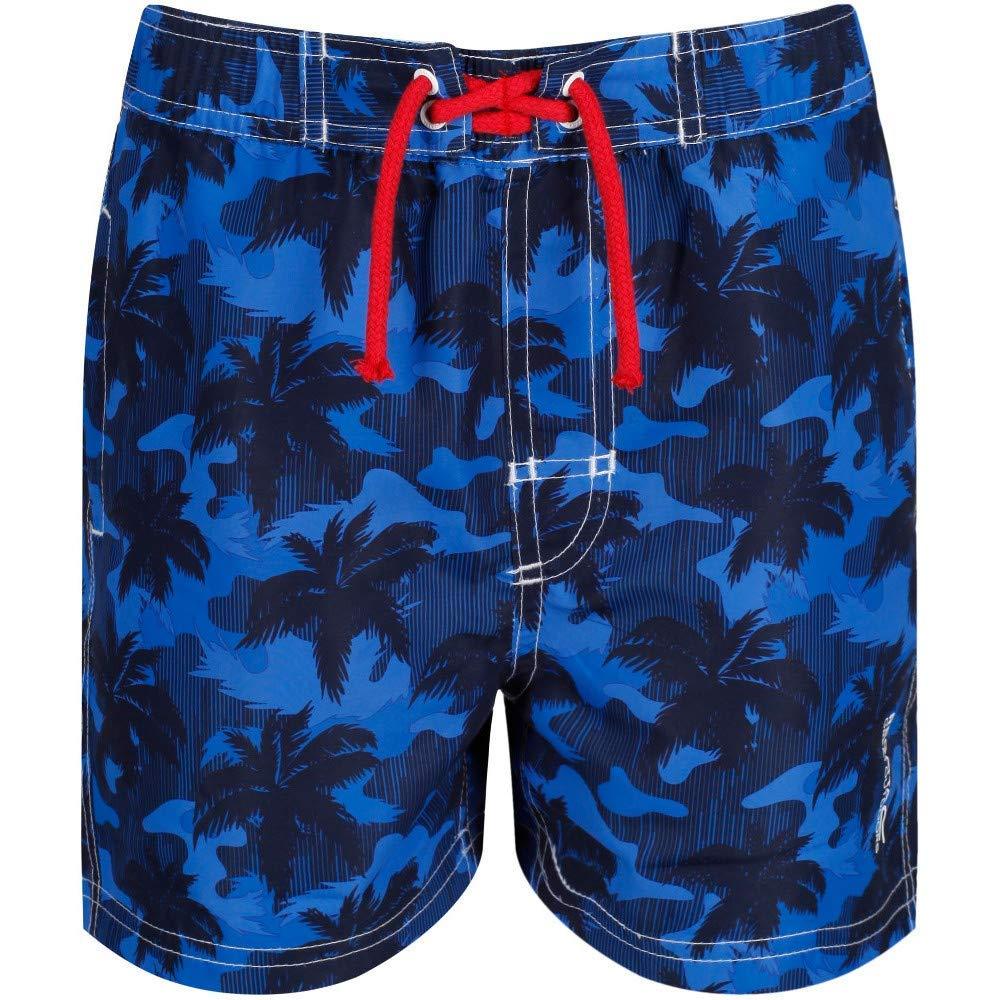 Regatta Childrens Skander Ii Quick Drying Mesh Lined Camo Print Swim Shorts