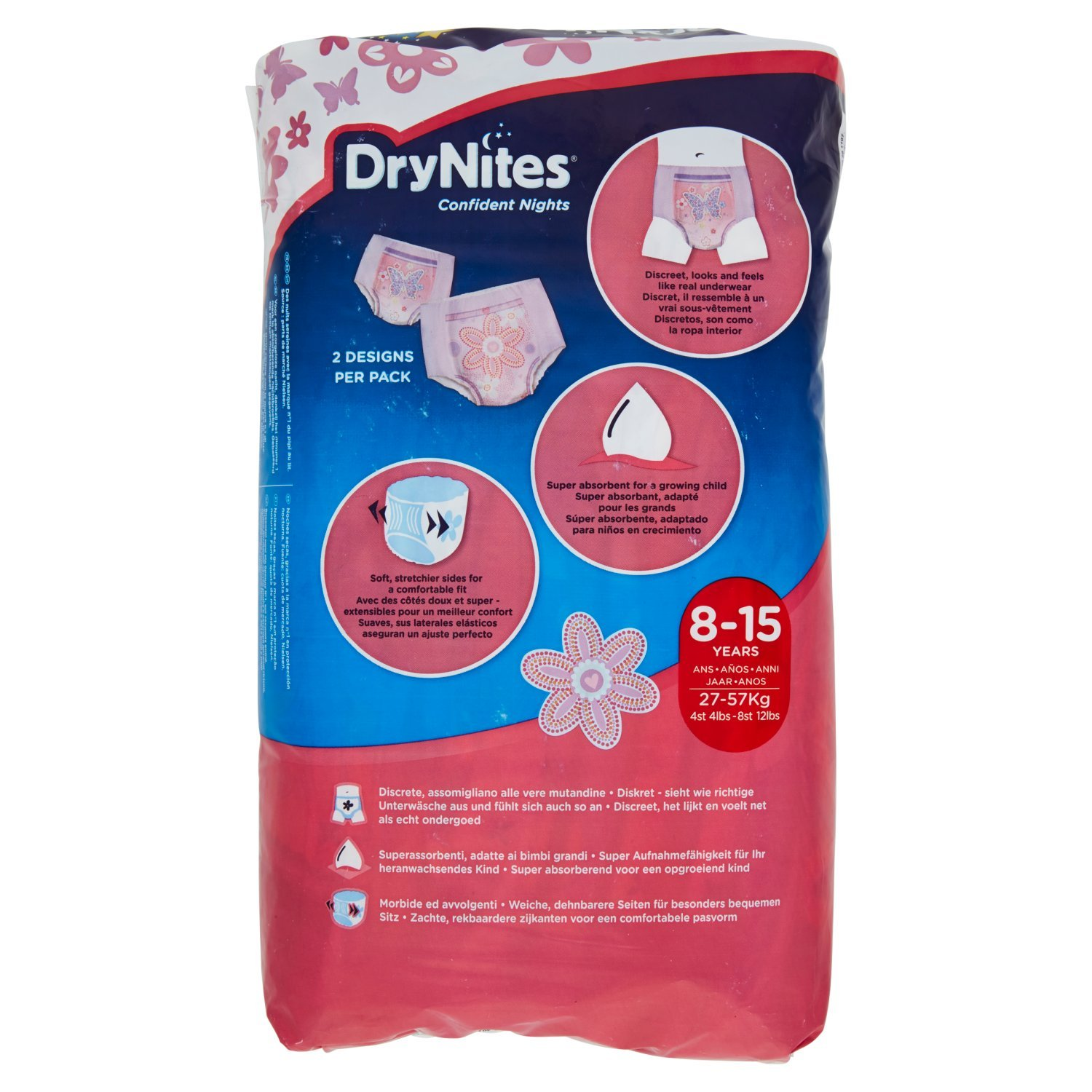 Amazon.com: Huggies DryNites Pyjama Pants for Girls 8-15 Years (27 - 57 kg) 2 x by Huggies: Health & Personal Care