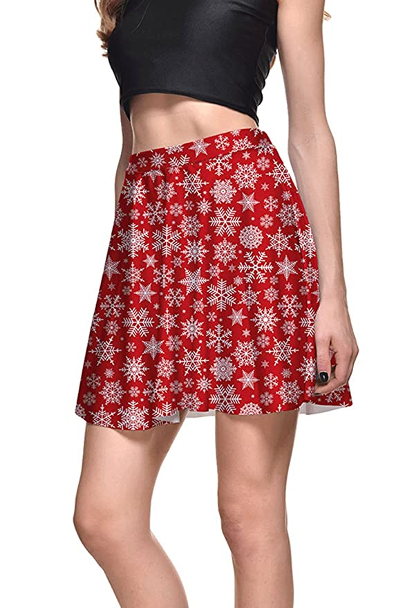Red Snowflake Skirt
