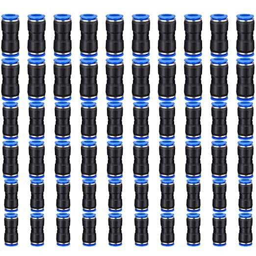 10 X PZA6 Pneumatic Air 4 Way Quick Fittings Connector 6mm equal Cross Tube Hose