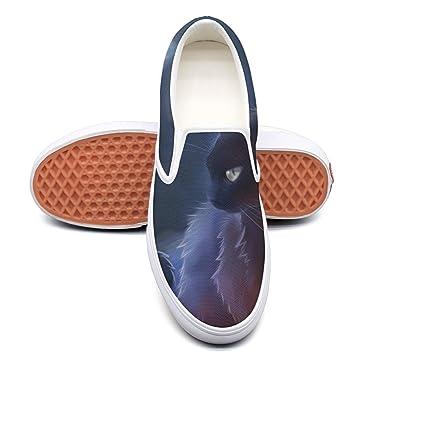 11275ef6d Amazon.com  VCERTHDF Cat Warrior Classic Canvas Shoe Mens White ...