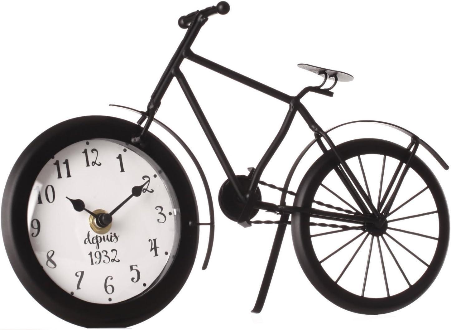 Coloris NOIR Pendule horloge originale Forme V/élo