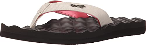 Reef Womens Sandals Dreams   Faux Leather Quilted Flip Flops
