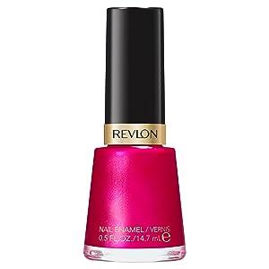 Revlon Nail Enamel, Chip Resistant Nail Polish, Glossy Shine Finish, in Pink, 723 Electric, 0.5 oz