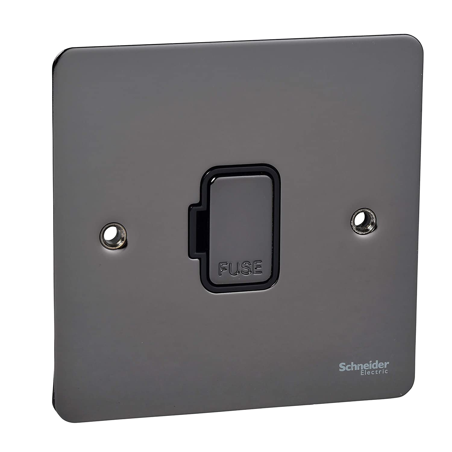Schneider Electric GU5203BPB Ultimate Flat Plate Brass UnSwitched Fused Connection Pack of 1