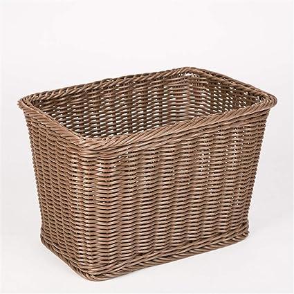 GSCshoe Cesta de Toalla de Mimbre, cesto de baño, cestas de Almacenamiento de Cocina