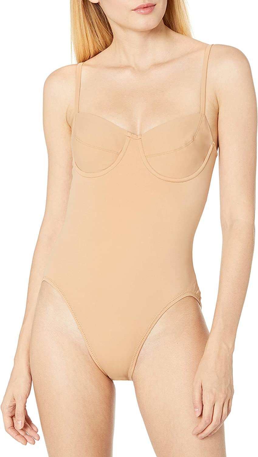 Norma Kamali Womens Shane Shoulder Cut Out One Piece Swimsuit