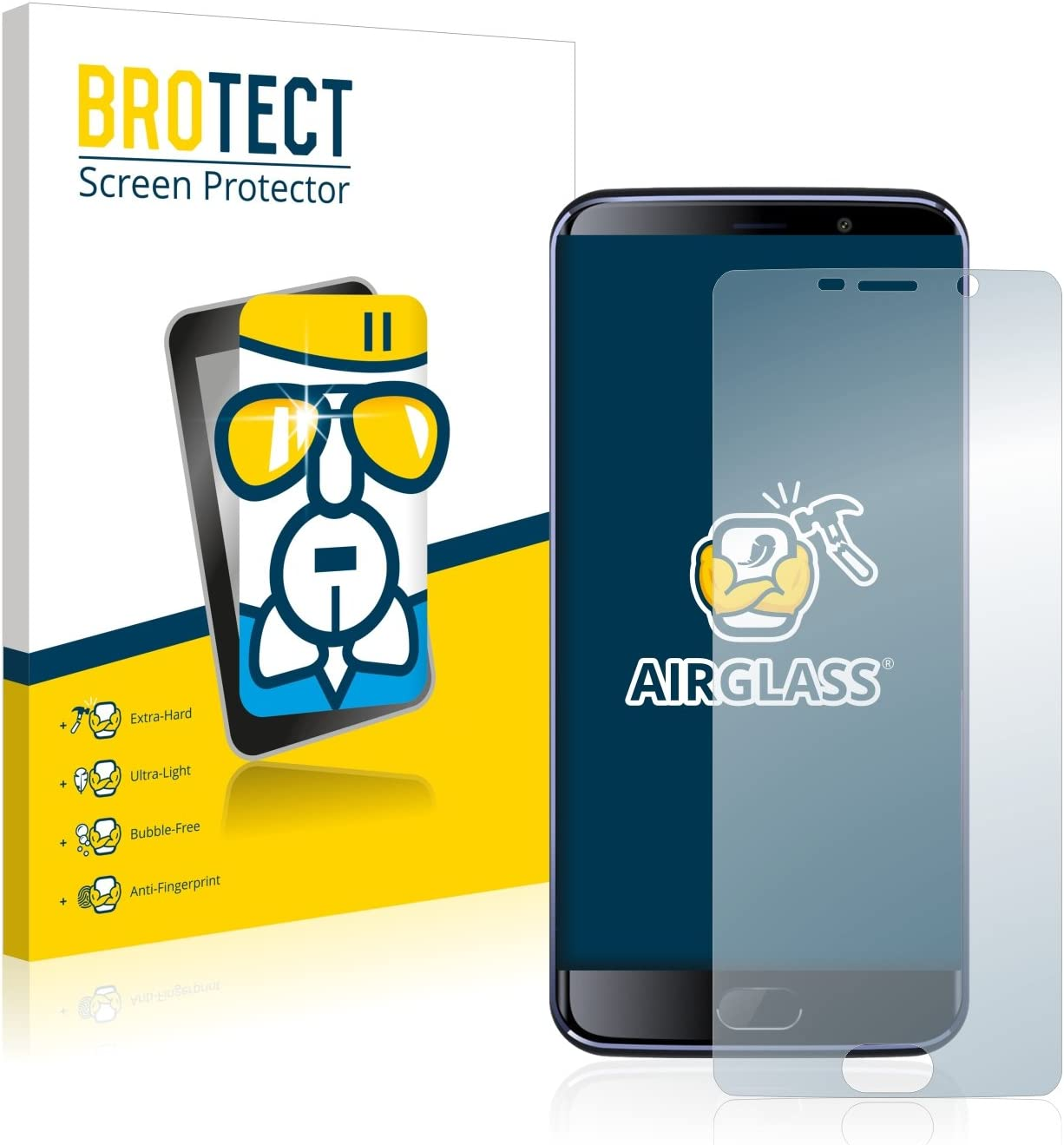 BROTECT Protector Pantalla Cristal Compatible con Elephone S7 ...