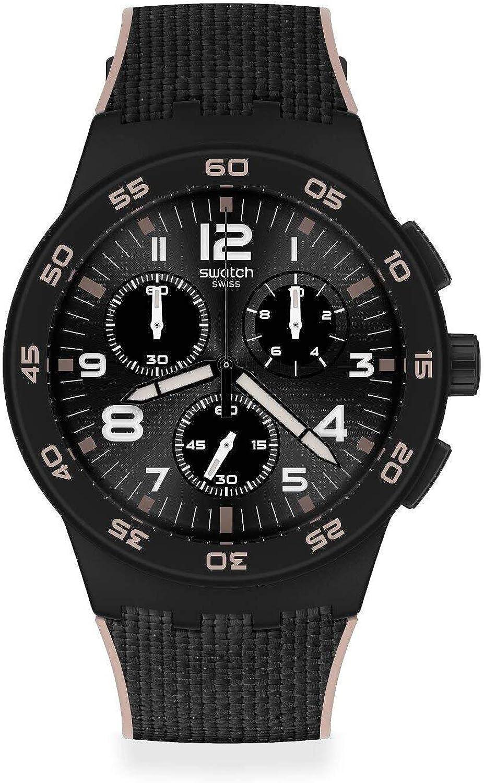 Swatch Reloj Unisex Adulto de Cuarzo analógico con Correa en plástico SUSB106