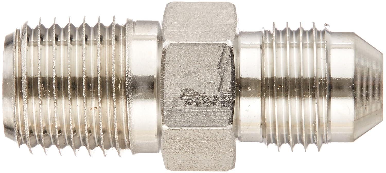 Flare-Twin Fitting Adapter JIC Eaton Weatherhead 5217X5X4 Stainless Steel SAE 37 Degree 1//4 NPT Male x 5//16 JIC Male