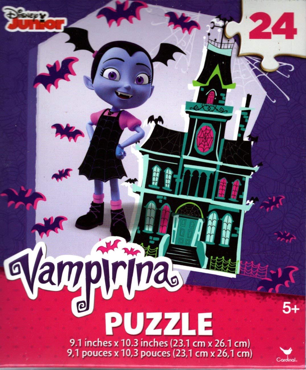 Set of 2 - v4 Cardinal Industries 24 Pieces Jigsaw Puzzle - Disney Junior Vampirina