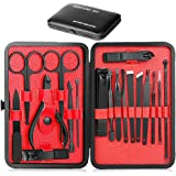 Epartswide Manicure Set,18pcs Stainless Steel Manicure Pedicure Set,Pedicure Kit Nail Clippers for Men Professional Manicure