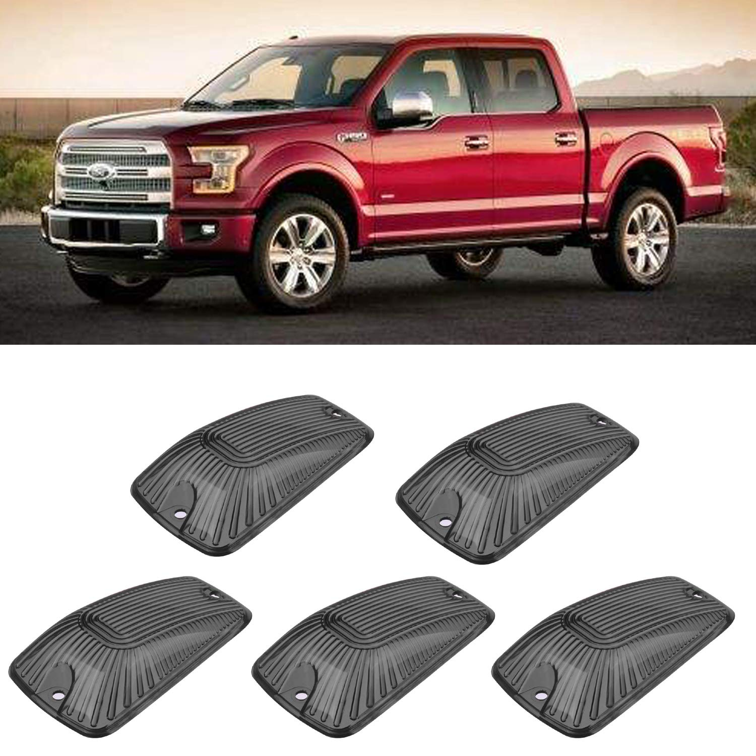 5 Pieces Top Roof Cab Marker Lights Lens Cover Replacement for 1988-2000 GMC C//K 1500 2500 3500HD