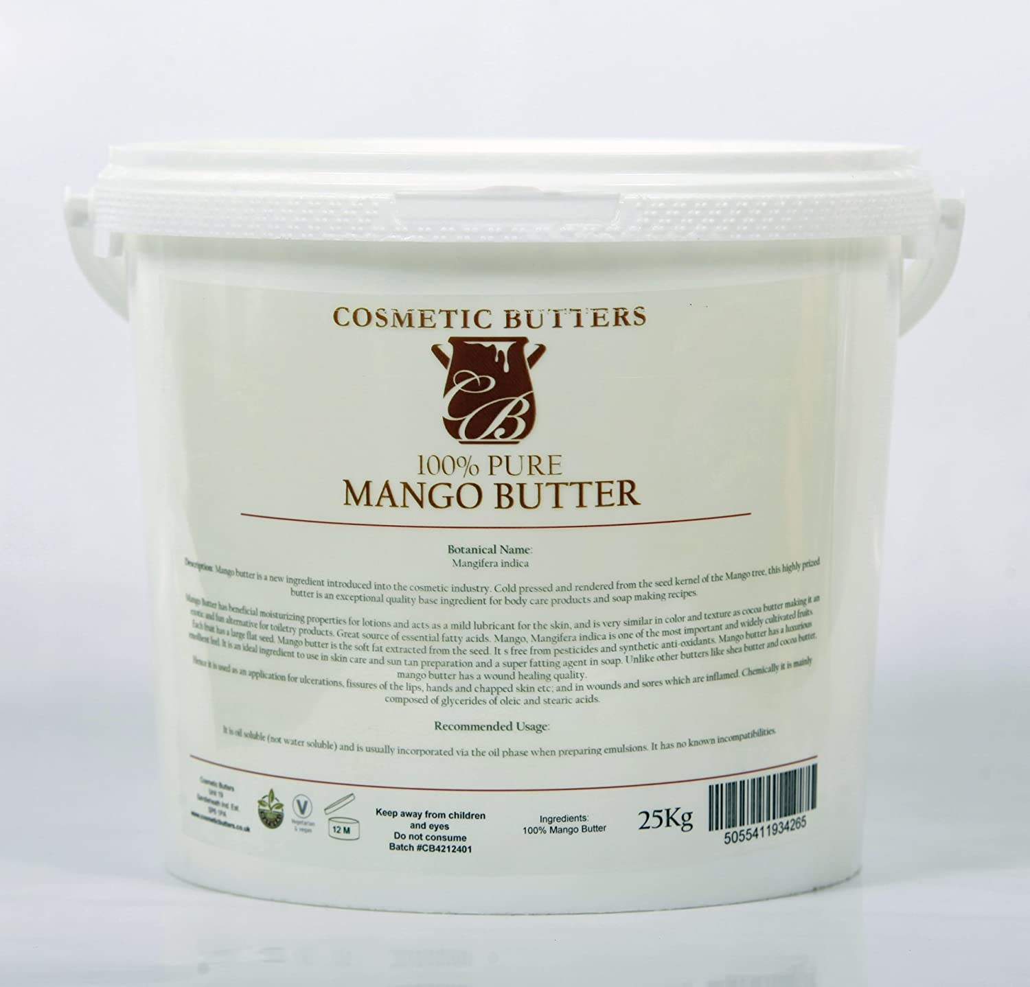 Mango Butter - 100% Pure and Natural - 5Kg B07T9MT3TP