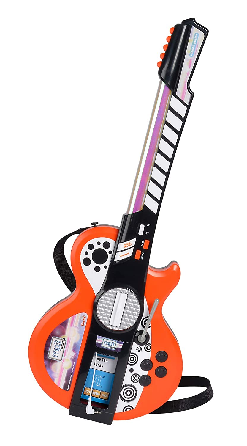 Simba 106838628 - My Music World Light Guitar mit MP3 Funktion Simba Toys