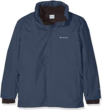 Columbia Mission Air Chaqueta para Lluvia, Hombre, Azul (Dark Mountain), XXL