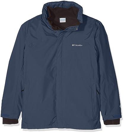 Columbia Mission Air Interchange Jacket Chaqueta Impermeable, Poliéster, Hombre, Azul (Dark Mountain