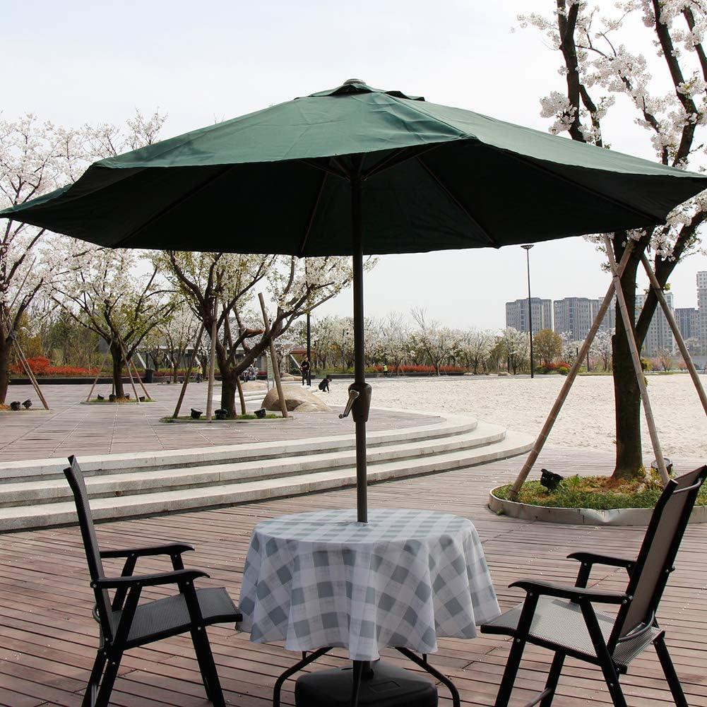 style1 Resistente al Agua y a Las Manchas de 60 Pulgadas ele ELEOPTION 152 cm de di/ámetro Redondo Mantel de terraza para sombrilla con Cremallera y Orificio para sombrilla