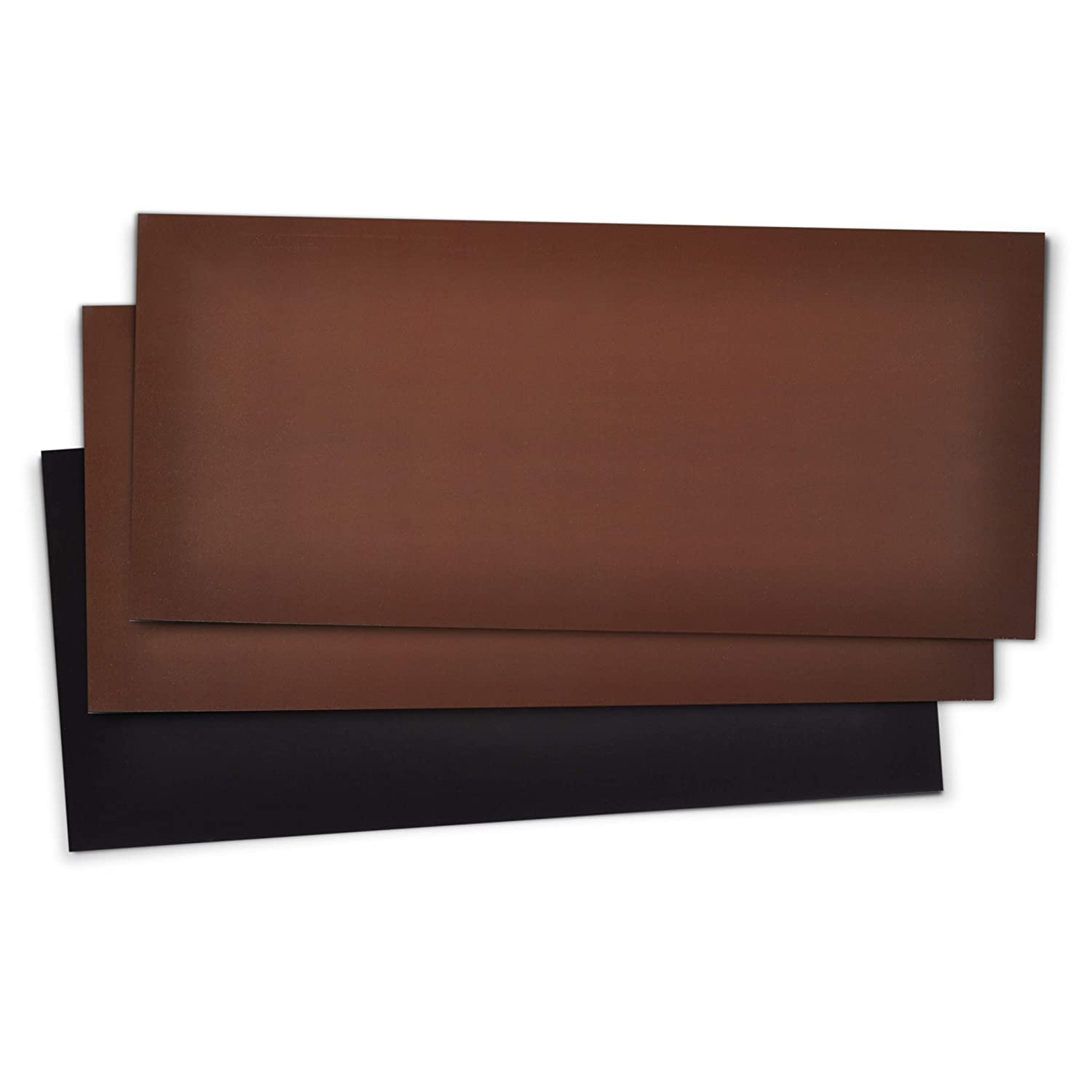 "5.5"" x 12 "" Extra Magnetic Floor Vent Covers (3-Pack) Stronger Magnet for Floor Air Registers (Brown) for RV, Home HVAC, AC and Furnace Vents (Not for Ceiling Vents)"
