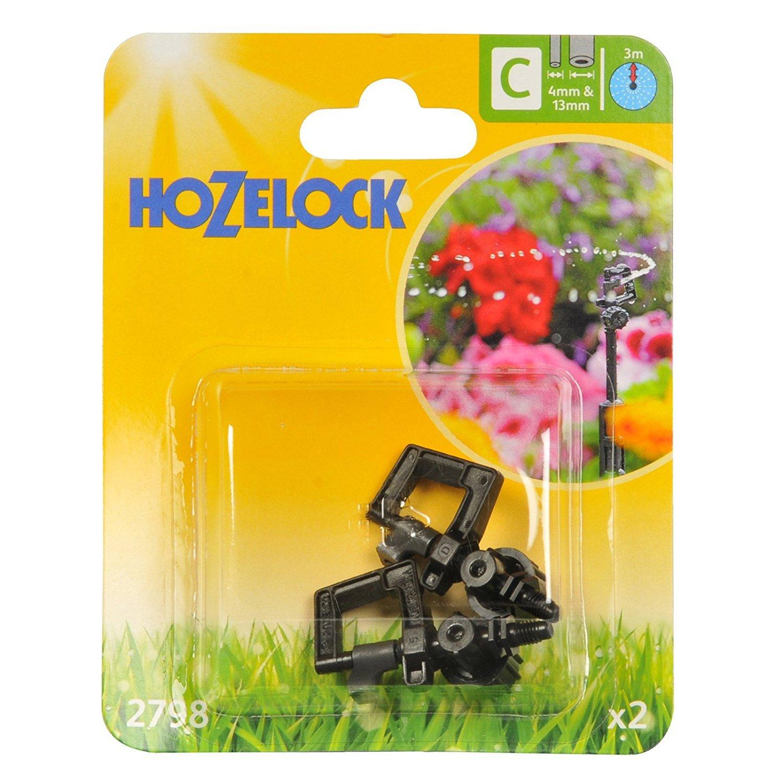 2 x Hozelock 2798 360 Degree Mini Water Sprinkler Micro Irrigation Auto Watering
