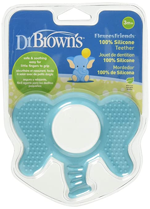 Dr. Browns Flexees Friends - Mordedor bebé, color azul