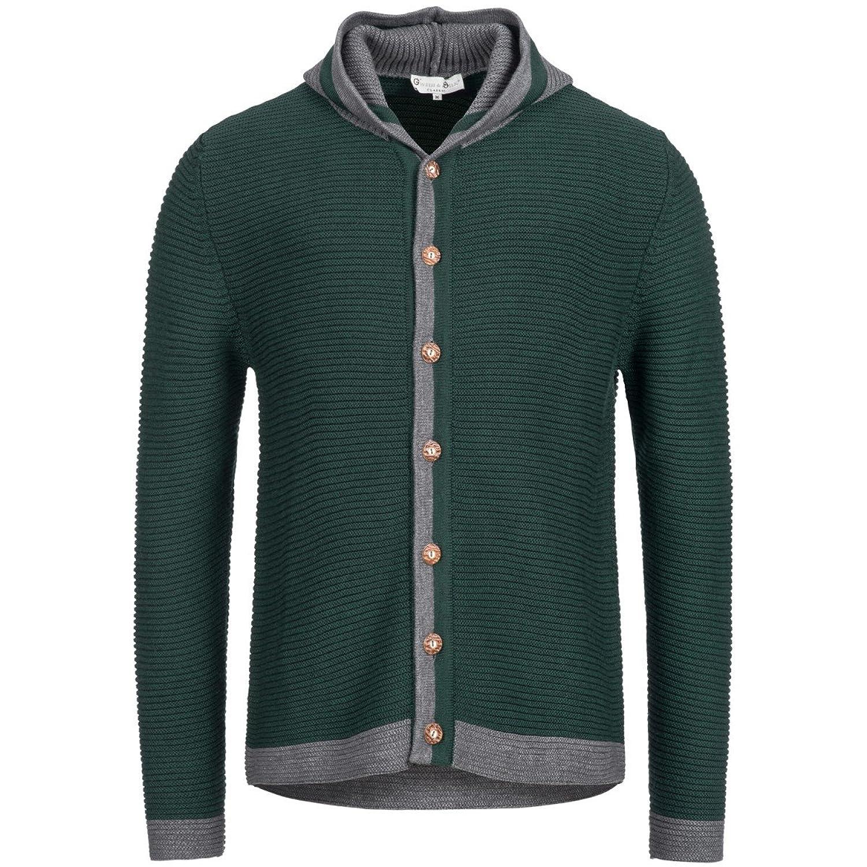 Strickjacke in Grün von Gweih und Silk