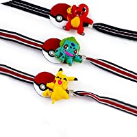 Aapno Rajasthan Set of 3 Lovely Cartoon Characters Motif Kids Rakhi