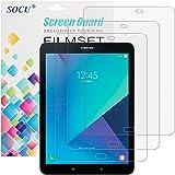 Samsung Galaxy Tab S3 Displayschutz, 3 x SOCU Displayschutzfolie Samsung Galaxy Tab S3 Schutzfolie Folie (Tab S3)