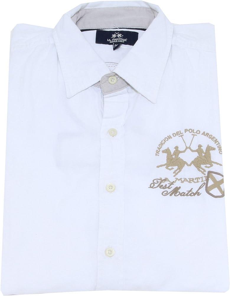 La Martina - Camisa Casual - para Hombre Blanco Blanco Medium: Amazon.es: Ropa y accesorios