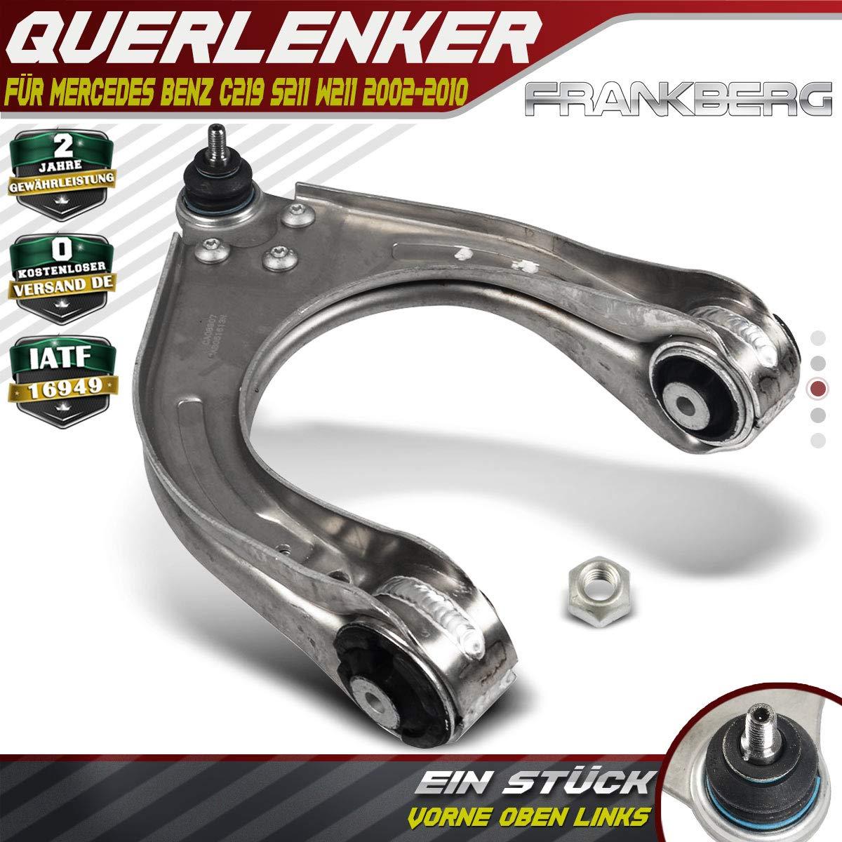 Querlenker Vorderachse Oben Links Traggel/änk Radaufh/ängung Spurstange f/ür C219 W211 S211 ab Bj.2002//03-2010//12