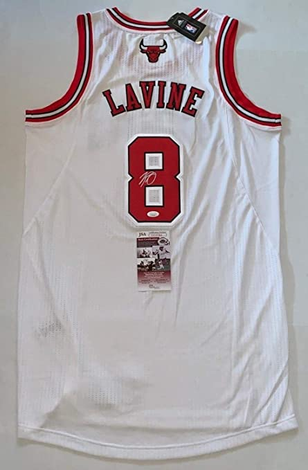 more photos af7e4 aa116 Zach Lavine Autographed Signed White Chicago Bulls Adidas ...