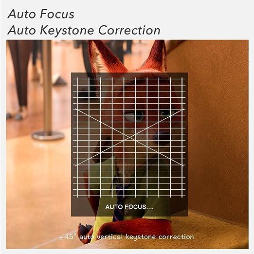 iOCHOW IO4 Mini Proyector, 1080P HD Con DLP 3000 Lúmenes, Proporción Del Contraste 10000: 1, Vida llevada 30.000 Horas, Proyector LED: Amazon.es: ...