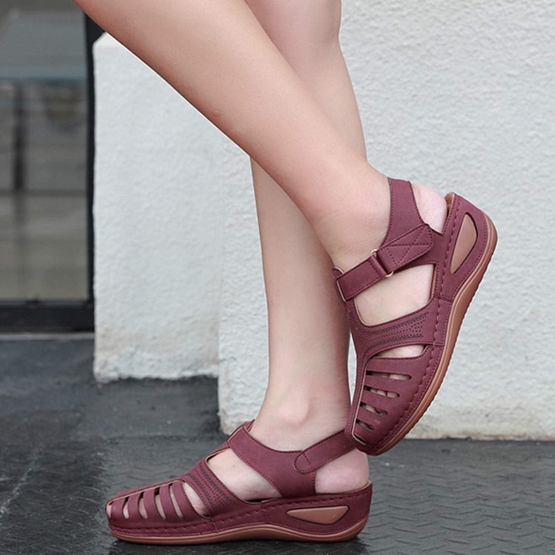 Sandalias Mujer Verano Cu/ña Sandalias Cerradas C/ómodos Casual Zapatos de Playa