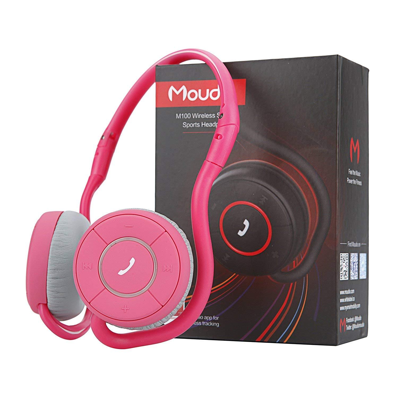 Pink White Label Moudio M100 Street Style Neckband Headphones