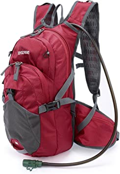 Enknight Mochila de hidratación de 20 l para senderismo, ciclismo, viajes, running - ENKLLB074-CB01, Medium, rojo (Red+2L Bladder)