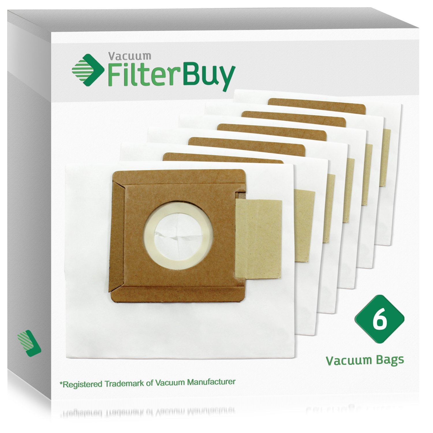 6 - FilterBuy Dirt Devil Type O Replacement Vacuum Bags. Designed FilterBuy to fit Dirt Devil Tattoo Canister Vacuum Cleaners.