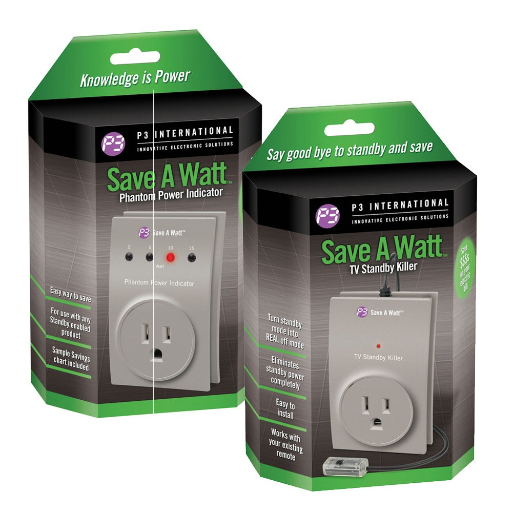 Save a Watt(r) TV Standby/Save a Watt Original Bundle - Electricity Saver and Monitor - Automatic Shut Power Off