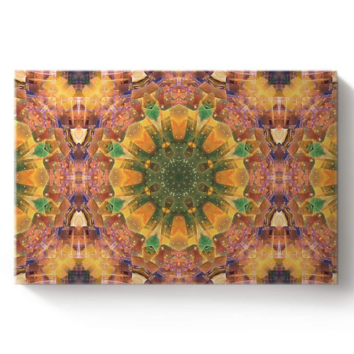 Amazon Com Canvas Print Wall Art Grand Colorful Mandala