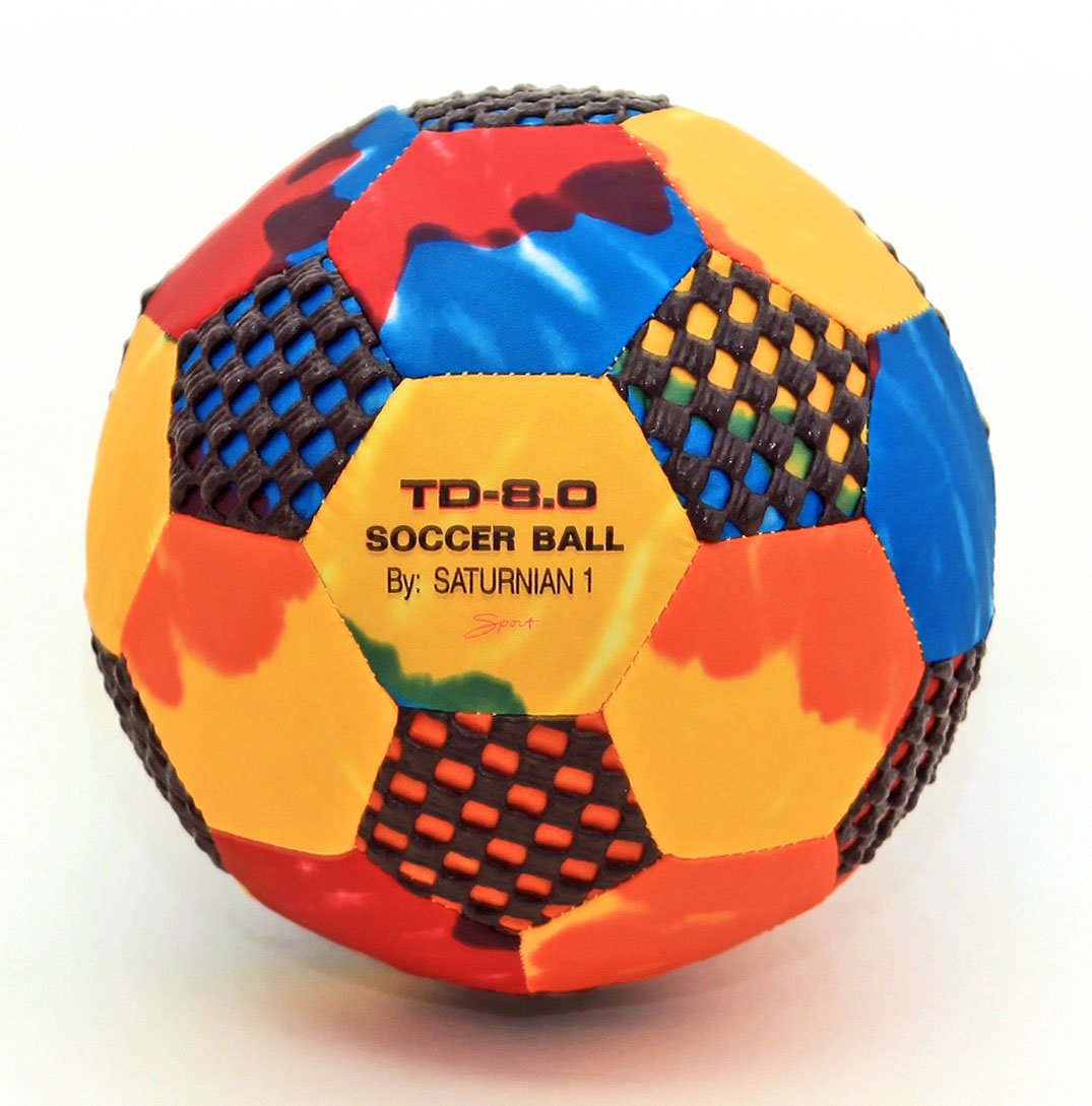 Fun Gripper (TD Tie-Dye Soccer Ball Size (4) 8.0 Inch (PERFECT FOR INDOORS) By:Saturnian I P.E. Supplier